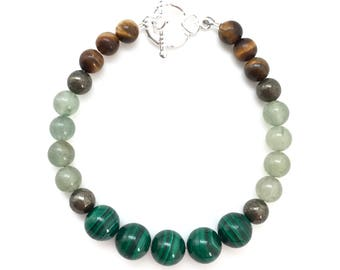 Good Luck Bracelet - Wealth, Abundance, & Prosperity, Pyrite Green Aventurine - Positive Energy Bracelet- Chakra Bracelet - healing bracelet