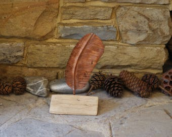 Copper Owl Feather