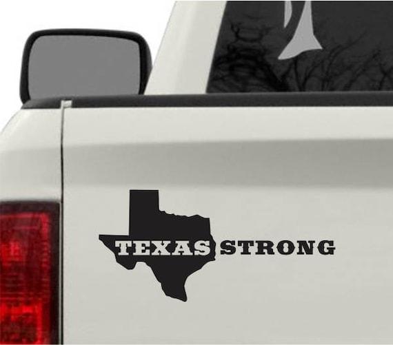 Texas Strong Houston Vinyl Decal Bumper Sticker Hurricane - Vinyl decals houston tx