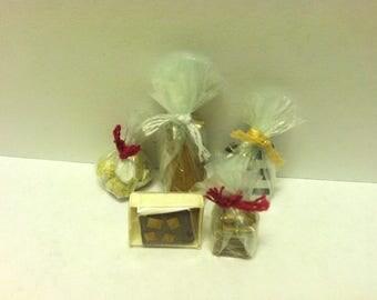 Dollhouse Miniature Gourmet Food~Miniature Pound Cake~Miniature Bread~Miniature Marshmallows~Miniature Cookies~Miniature Brownie