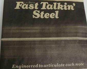 Fast Talkin Steel vintage guitar strings La Bella