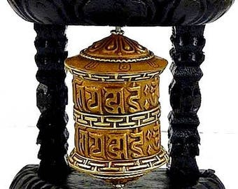 MILL A prayer wall Buddhist Tibetan, zen meditation Buddha temple mantras ritual mill 57