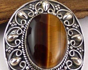 PENDANT Tiger eye stone of protection stone jewelry natural chakra JA58.2