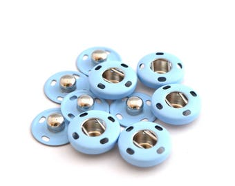 Snap buttons sewing blue 14 mm