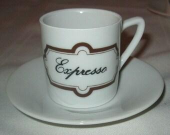 Vintage Demitasse Cups / Vintage Espresso Cups /  Espresso Cups with Saucers / Vintage Coffee Set / NOS