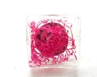 Rose ring square globe foliage