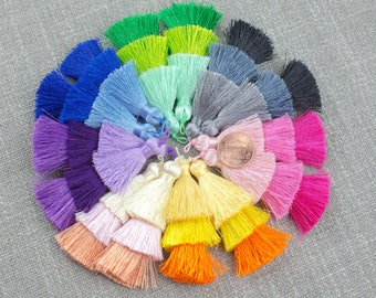 Ombre Silk Tassels- 65mm - Triple Color- High Quality - Nice and Silky -2 pcs Per Order- Perfect for Earrings