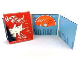 Horton Hears A Who CD Audiobook Dr Seuss 3 Books In 1 Set Read By Celebrities