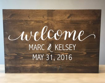 Wedding welcome sign - Wood Wedding Welcome Sign - Rustic Wood Wedding Sign - Rustic Wedding Sign - Wood welcome sign - Wooden Welcome sign