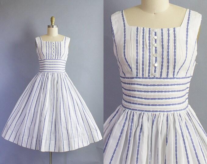 1950s Stripe Sundress/ Small (34b/26w)