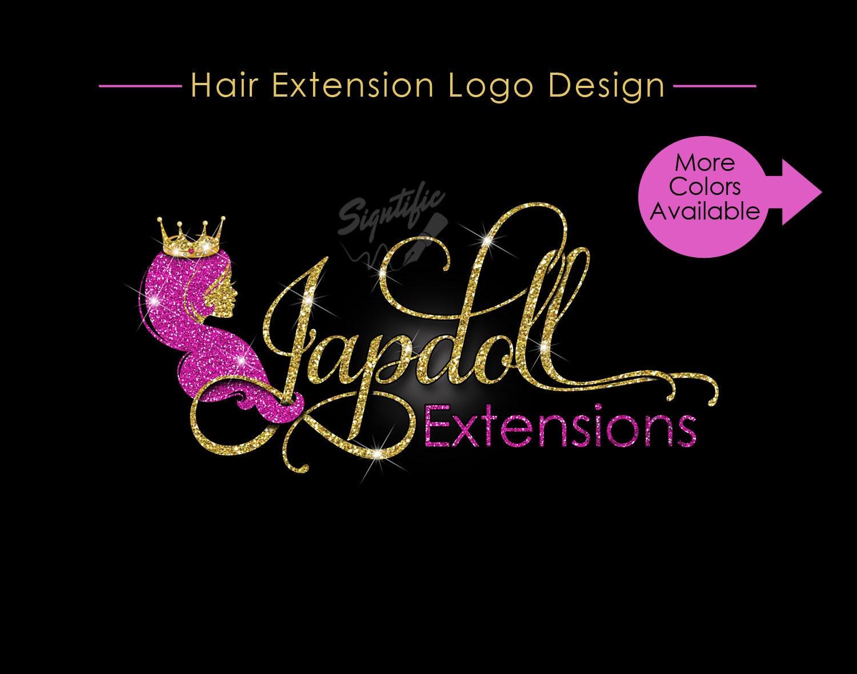hair extensions logo hair logo design hair collection