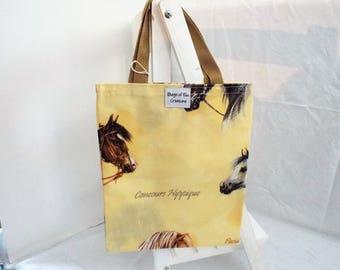 Flat Horse Tote Bag oilcloth