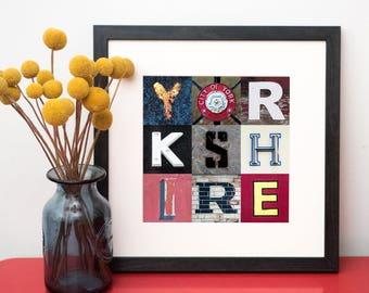 Yorkshire Typography Print