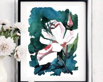 Flower Watercolor Painting - Floral  Art Print  - Watercolor Flower Watercolor Painting Flower Painting Floral Art