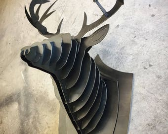 Buck Deer Wall Mount Metal