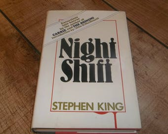 Night Shift Stephen King, Hardcover Edition with Dustjacket,  Horror Novel , Isbn# 0-385-12991-2, Childen of the Corn