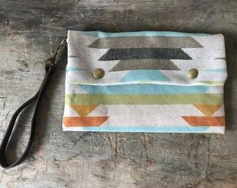 Pendleton Wool Aztec Clutch Purse