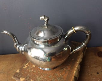 Chinese Export Silver Teapot Tuck Chang Antique Pure Silver Bamboo Tea Pot Silver Shanghai 1875-1925 Sterling Silver Tea Pot