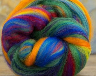 Merino Wool Combed Top/Roving by the Pound - Impressionist