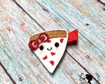 Pepperoni Pizza Feltie Clip - Pizza Barrette - Easter Basket Filler - Stocking Stuffer - Gifts Under 5 - Clips for Toddlers