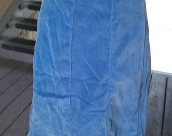 SALE Periwinkle blue velvet 40/50s A line skirt, well made, pin up