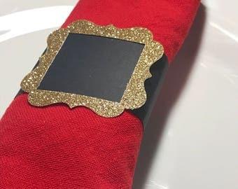 Christmas Napkin Rings - Holiday Napkin Rings - Christmas Table Decor - Santa Claus Napkin Ring - Holiday Decor - Hostess Gift - Table Decor