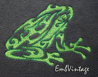 MACHINE EMBROIDERY Desigm - frog - Instant Download - 3 sizes
