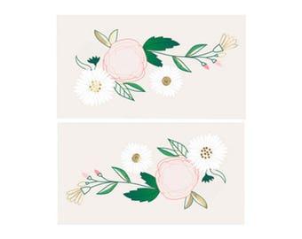 Flower Tattoos - Floral daisy temporary tattoos