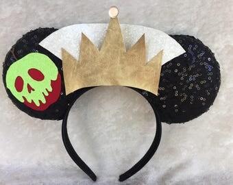 Evil Queen Ears Snow White Evil Queen Ears Disney VillainDisney Evil Queen Ears