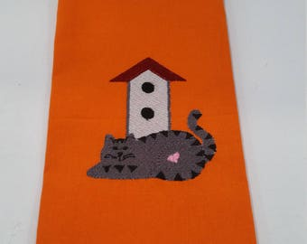 DECORATIVE Country Cat Tea Towel