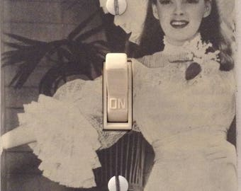 Judy Garland as Ester Smith Meet Me in St Louis Classic Vintage Movie Light Switch Cover Bedroom Bathroom Office Kitchen FREE US SHIPPING