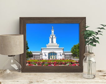 The Columbia River Washington LDS Temple // You get 5 sizes // Instant Digital Download