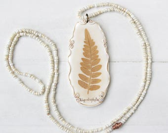 Real Fern Leaf Pendant, Real Flower Jewelry, Romantic Pendant, Botanical Jewelry, Preserved Flower, Nature Jewelry, Nature Pendant