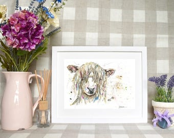 Limited edition 'Cotswold sheep' print