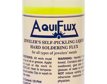 Aquiflux Self Pickling Flux for Precious Metals Gold Silver Jewelry and Hard Soldering 8 Oz (Half Pint) - SOL-932.03