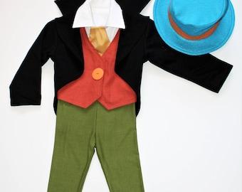 Jiminy Cricket Costume/Jiminy Cricket Toddler/Jiminy Cricket Kids/Children's Costume/Halloween Costume