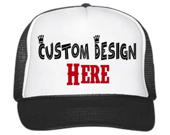 Customize Your Very Own Trucker Hats // Customizable // snapback // adjustable // party hats // gifts for her // gifts for him // your logo