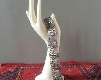 Bracelet Paris, Souvenir bracelet Paris, Valentines Day, filigree bracelet, midcentury jewelry, Boho jewelry, Shabby chic bracelet, Paris gift