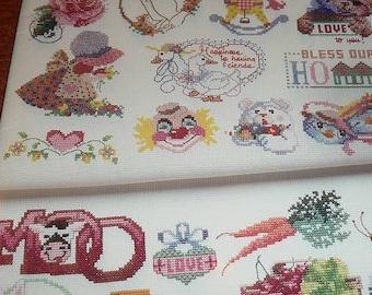Vintage 50 Cross Stitch Designs American School Of Needlework Leaflet