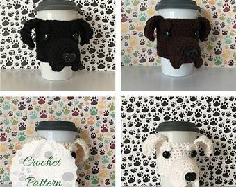 Crochet Labrador, Crochet Labrador Pattern, Black Lab Pattern, Cup Cozy Pattern, Dog Crochet Pattern, Crochet Dog Pattern, Amigurumi Dog