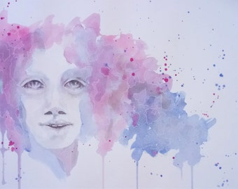 Lucy, watercolor painting