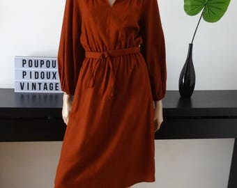 Robe vintage marron taille 36 - uk 8 - us 4