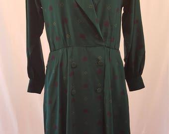 Silk Midi Day Dress