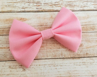 Baby Pink Fabric Hair Bow Clip or Headband / Pink Hair Bow / Light Pink Bow / Pink Bow Clip / Pink Bow / Light Pink Hair Bow / Bow Headband