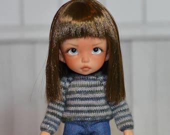 Pukifee sweater (greenish blue and light grey stripes)
