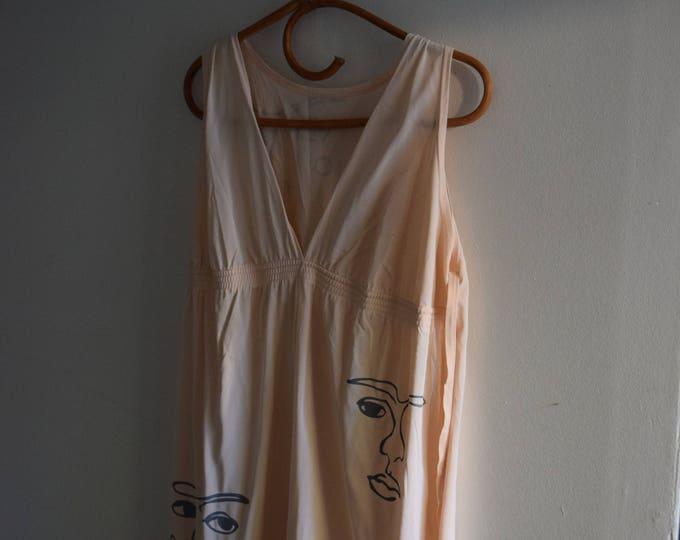 Freda Pastel Peach Slip Dress