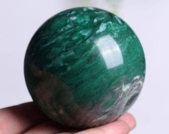 Natural African Green Jade Crystal Sphere Ball Healing, Crystals and Minerals , Wiccan Pagan Crystal J835