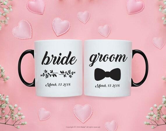Bride Groom MUG SET / Bride Groom Gifts / Wedding / Wedding Gift Set / Wedding Set for Mr and Mrs Wedding Gift  Bride To Be Couple Gift 221O