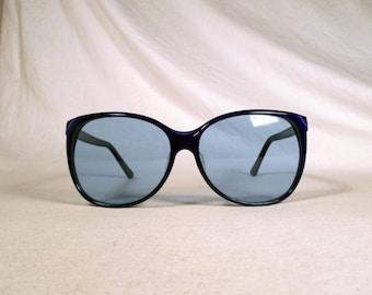 fabulous vintage sunglasses lunettes eyeglasses 1980 carved frame france rare
