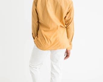 60s Mustard Woven Shirt L